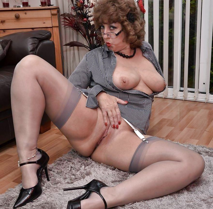 Mature big stocking milf