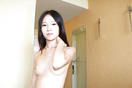 skinny young asian beauty