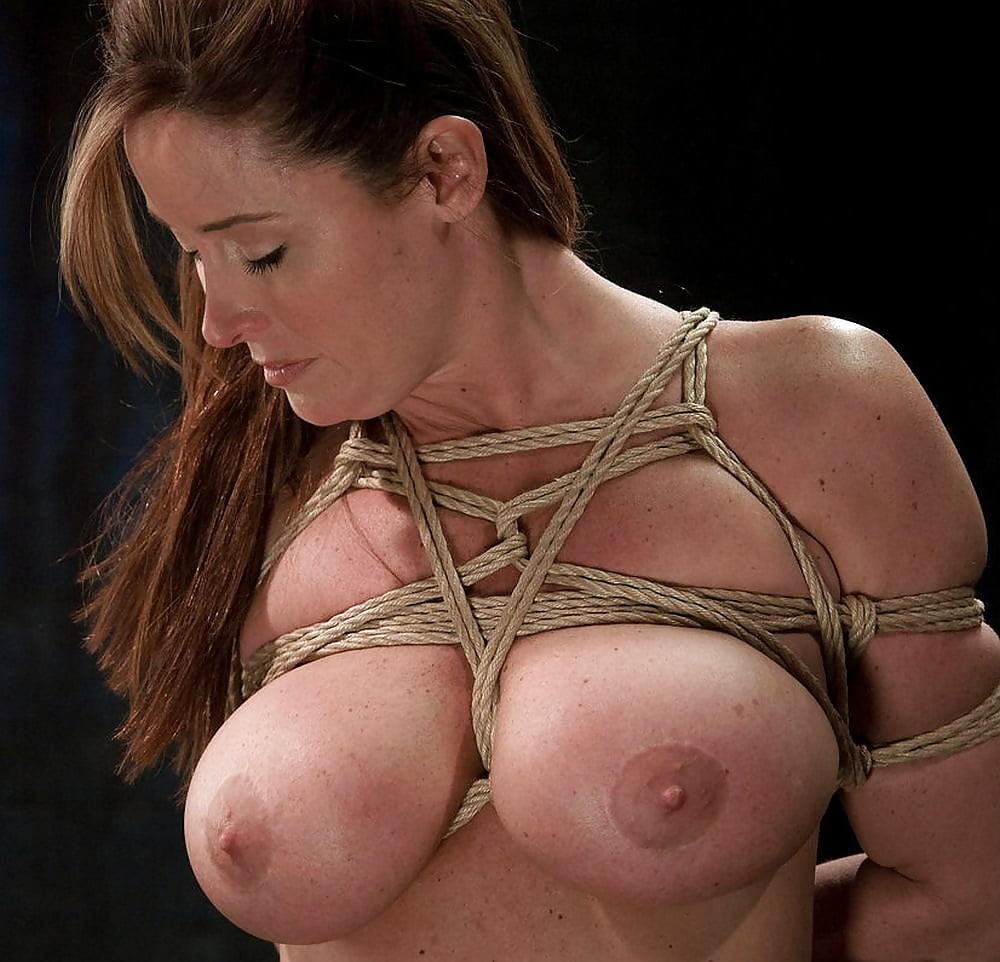 Rope tied breasts titty blog