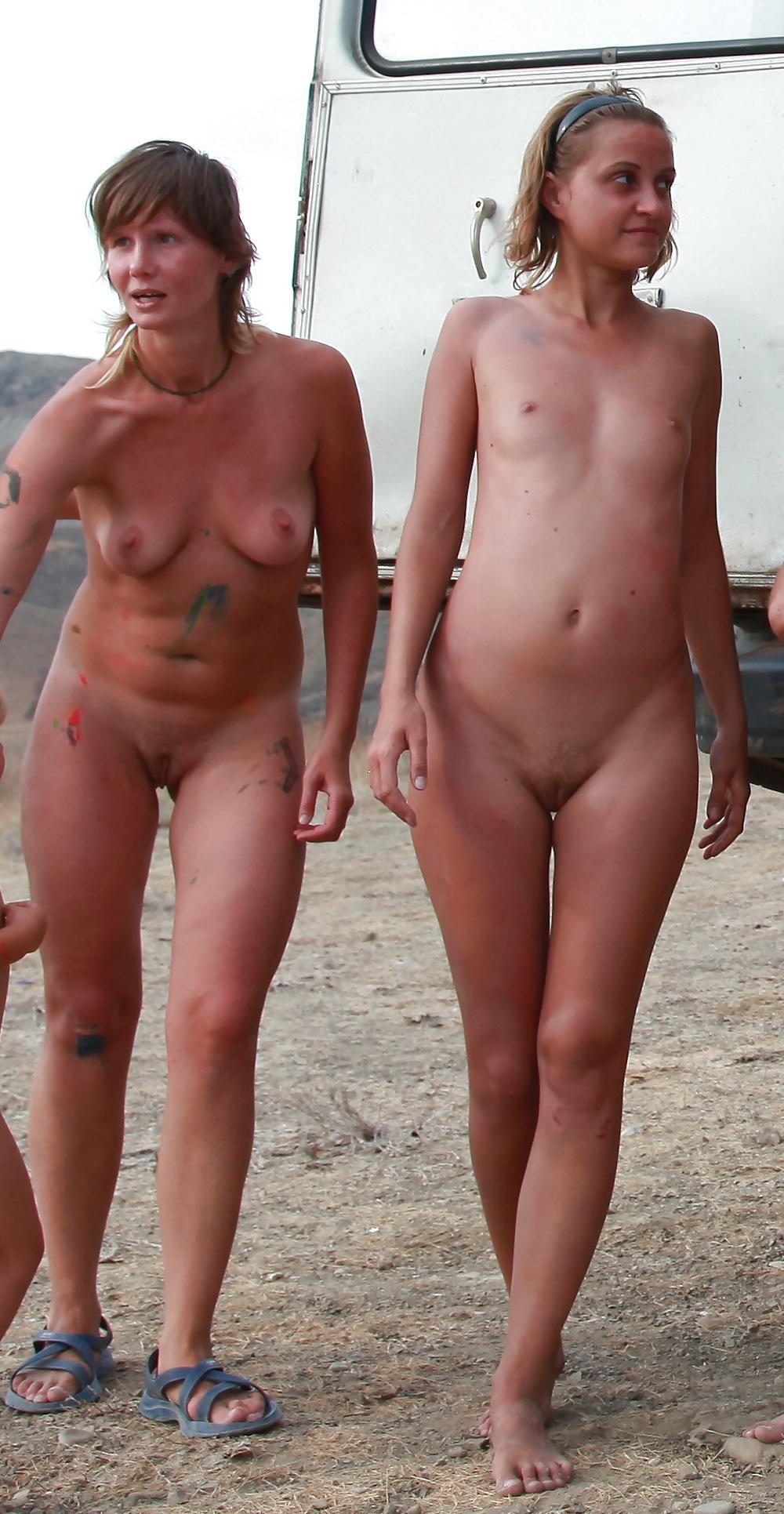 Public nudists