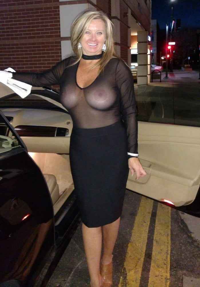 Cleavage Busty Blonde Mature