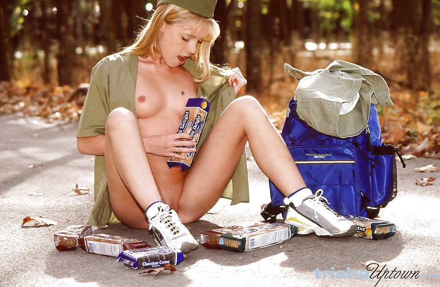 Teen big boobs selling cookies girlscout