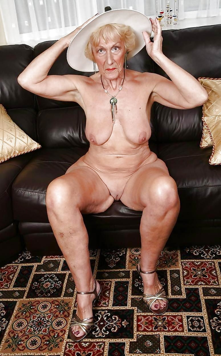 Horny grandmother naked #1