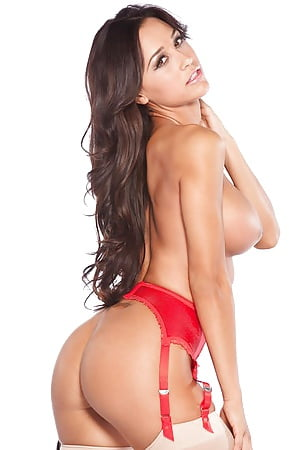 ana cheri red lingerie and heels