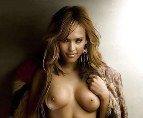 Jessica Alba Shows Her Sweet Pussy And Tits
