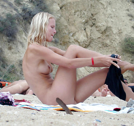 caught naked on the beach