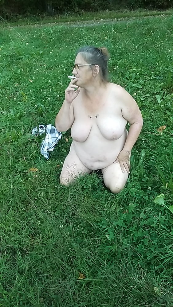Naked in a field