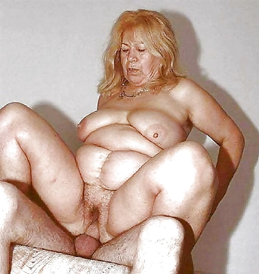 Fat Old Woman Is Getting Her Lips Around A Hard Dick
