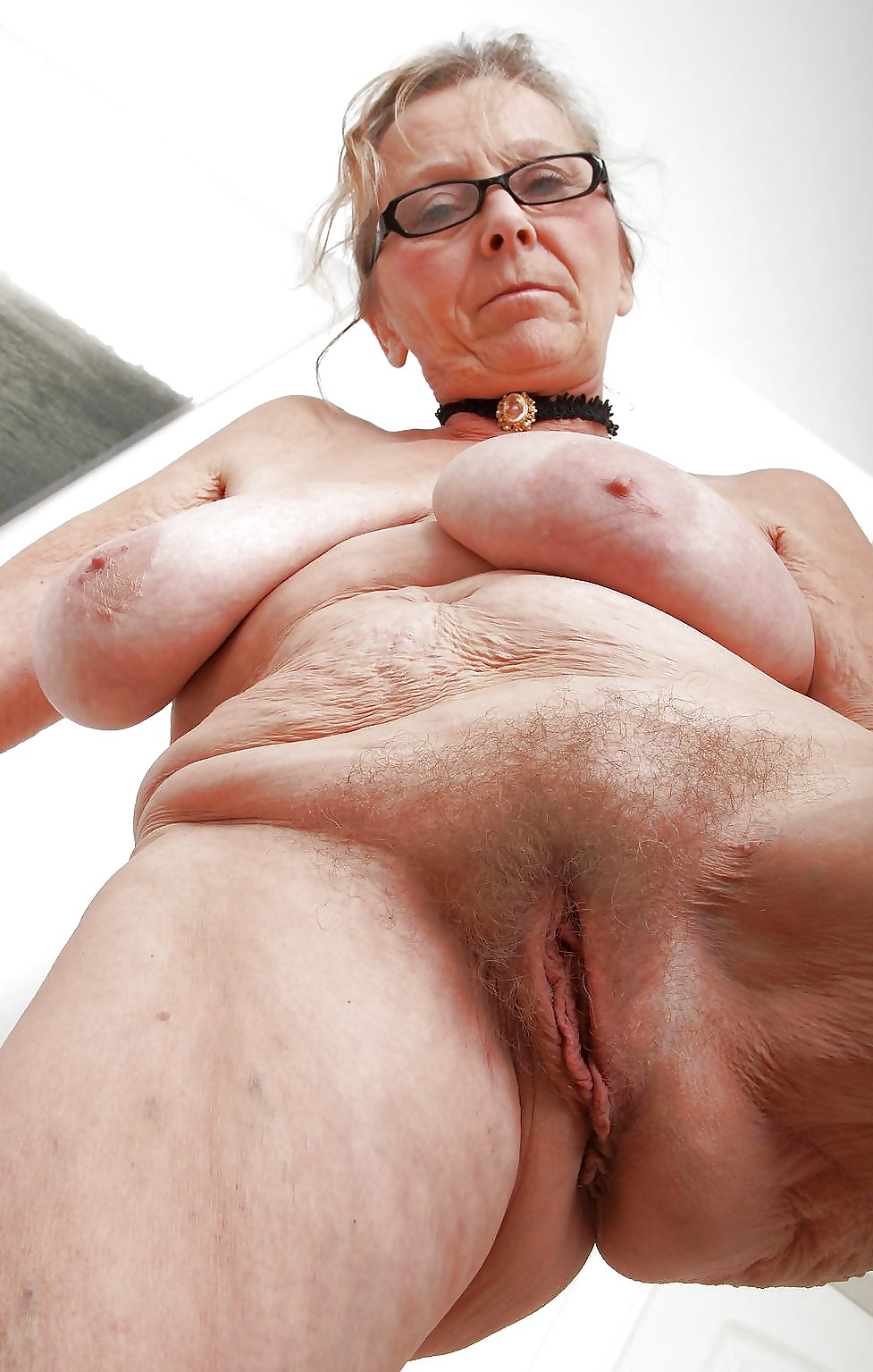 Black saggy mature oma