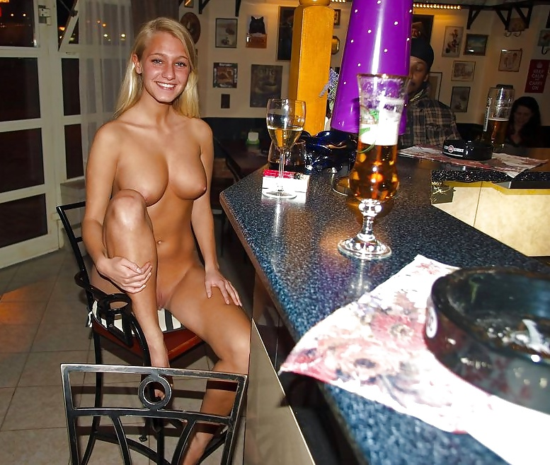 Wife at strip bar 9