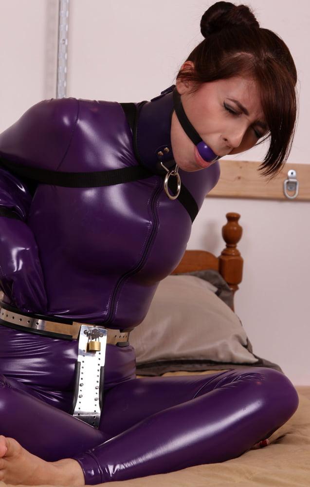 Purple ball bondage