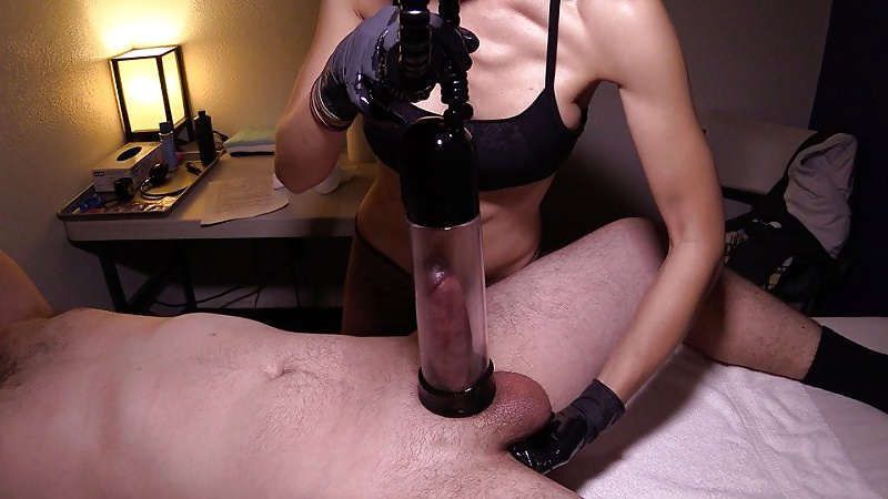 Handjob with gloves — pic 14