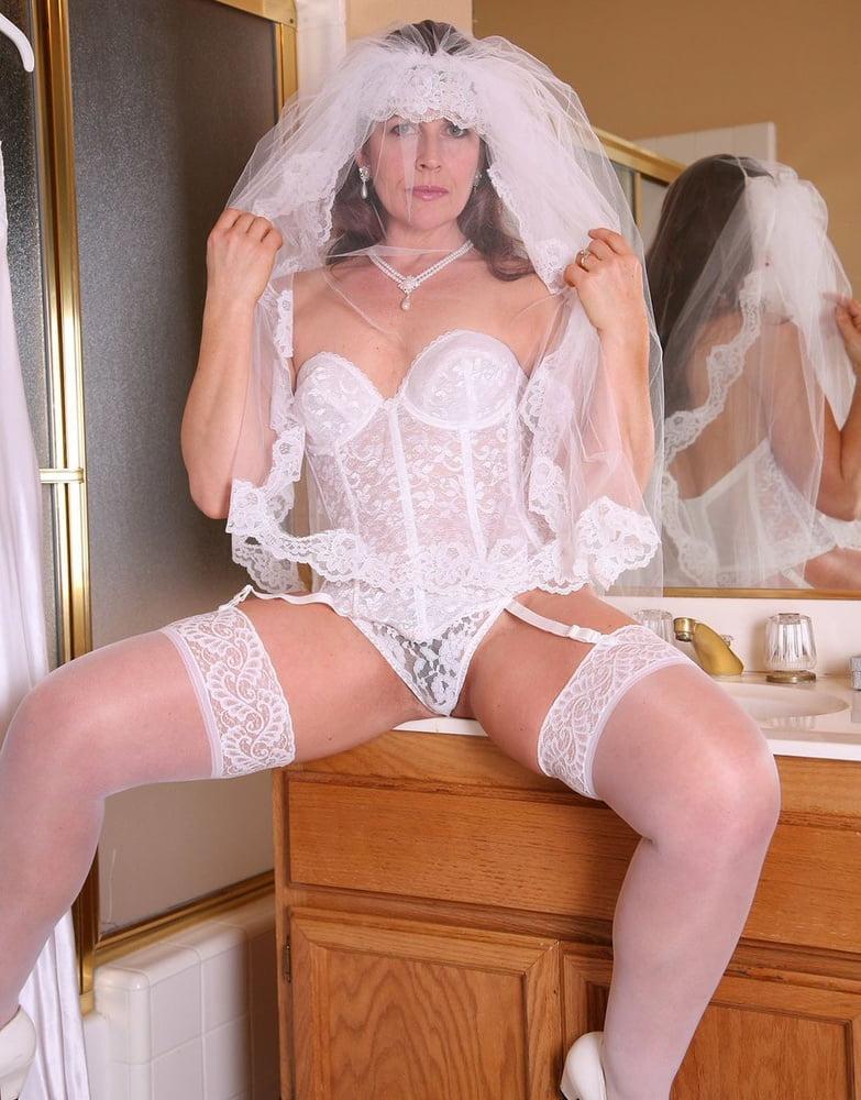 Milf lingerie bride