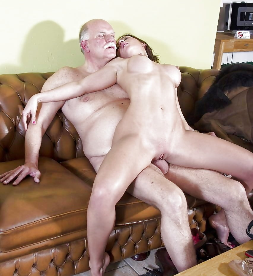 Babe strip old man fucks slut girl