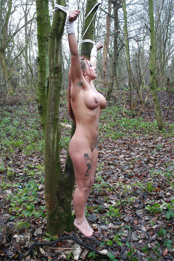 Outdoor tied nude — photo 15