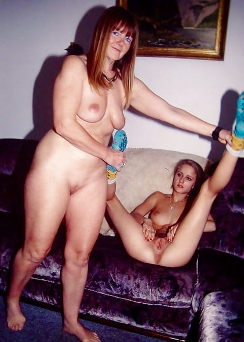 Mother and daughter with shaved pussys
