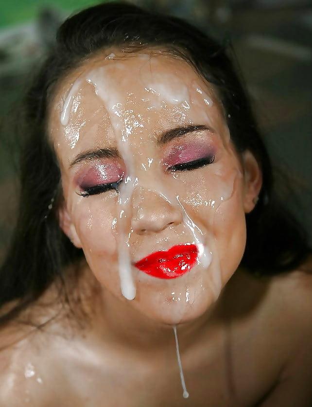 Фото лиц девушек забрызганных спермой 15