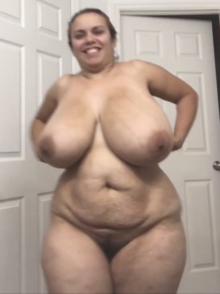 Naked chubby woman