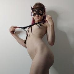 BDSM Slave Loves To Be Spanked Hard With A Whip. Hot Slut.