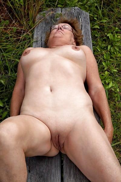 Naked mature nudist