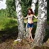 Among  Birch in Shirt