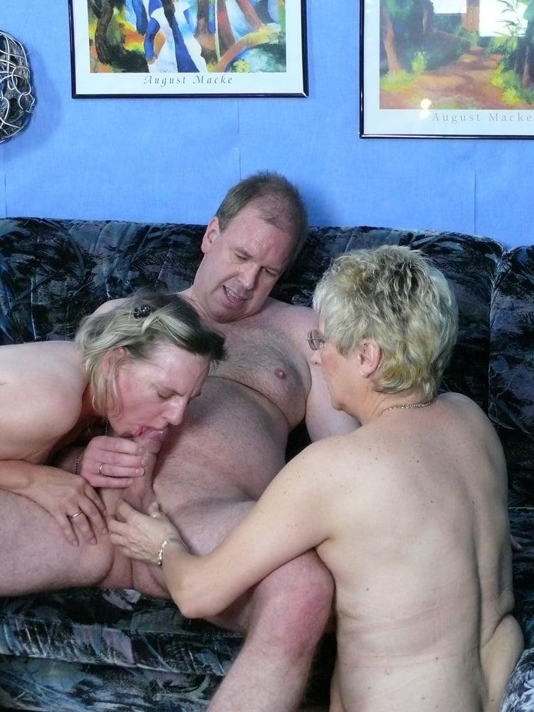 German old Couple Seduce Mature Maid to FFM Threesome Sex - 24 Pics