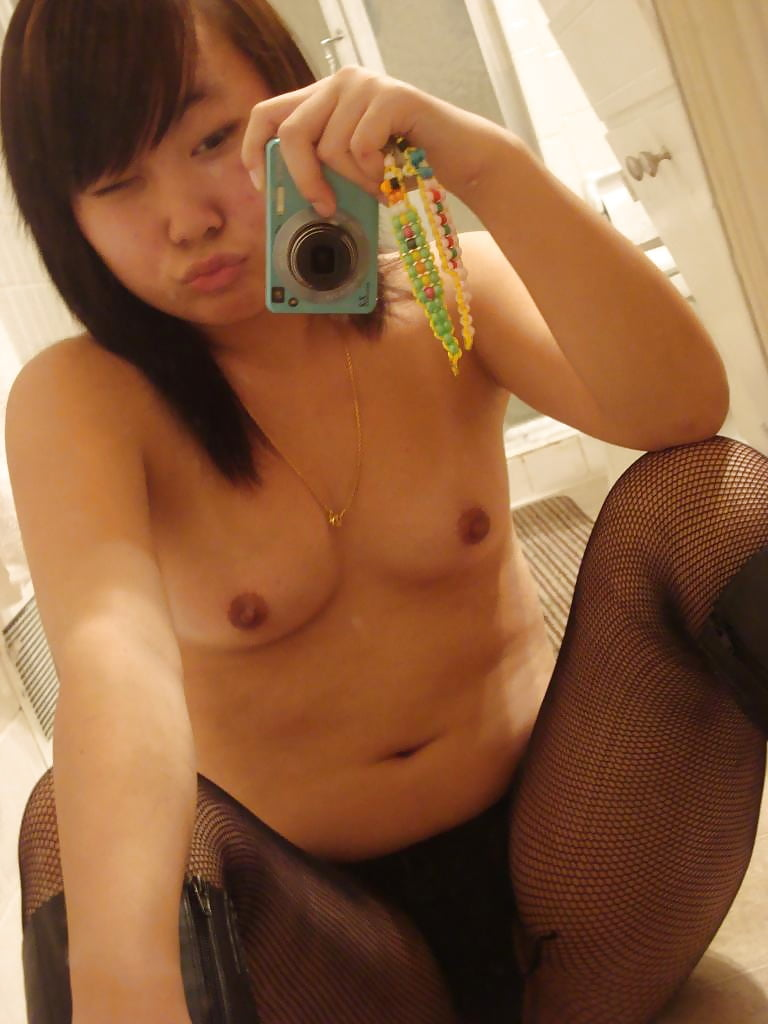 Legal asian hairy pussy self shots