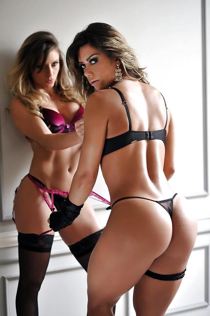 Pretty Gal Slip Babe Hot Sexy Girl Ass Butt Lady