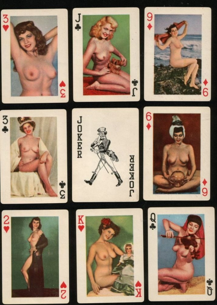 Classic nude playing cards #7