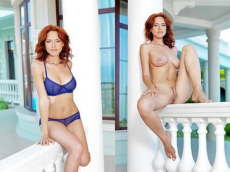 Free pics redhead undressing