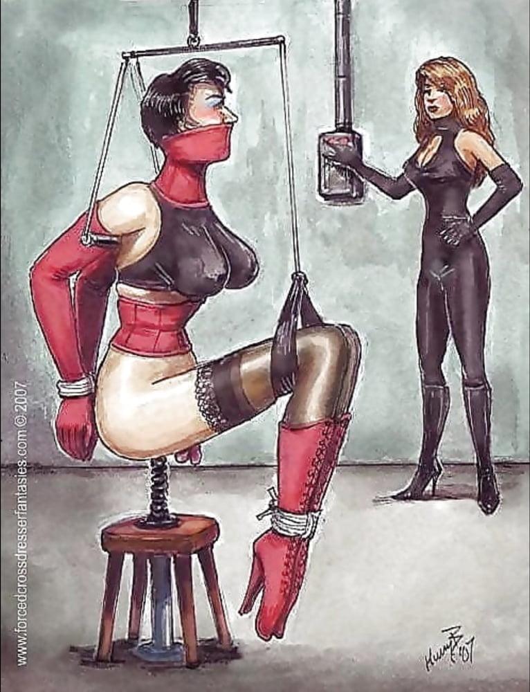 Bondage dominatrix art