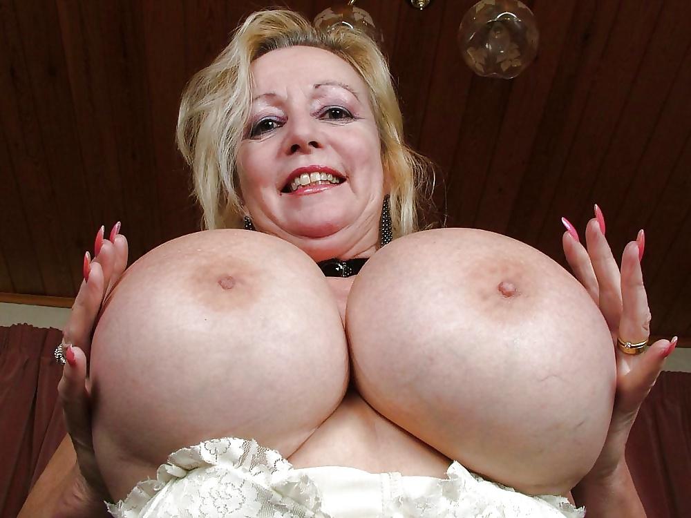 Huge saggy mature boobs