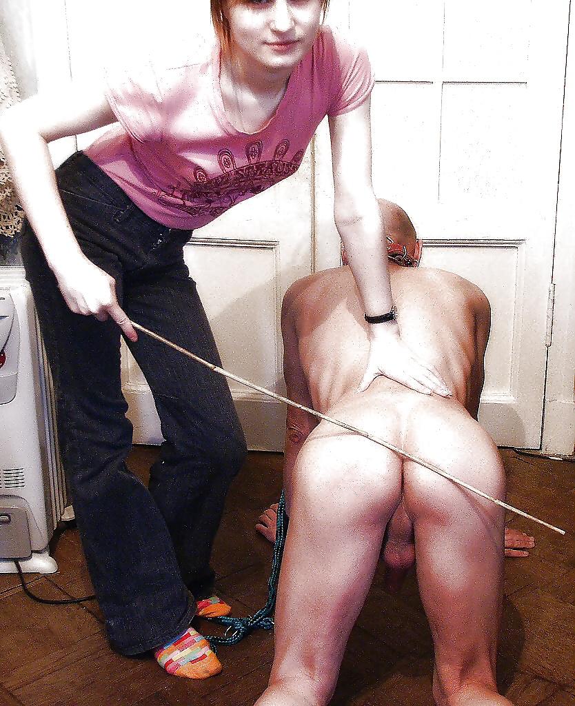 порка раба ремнем - 4