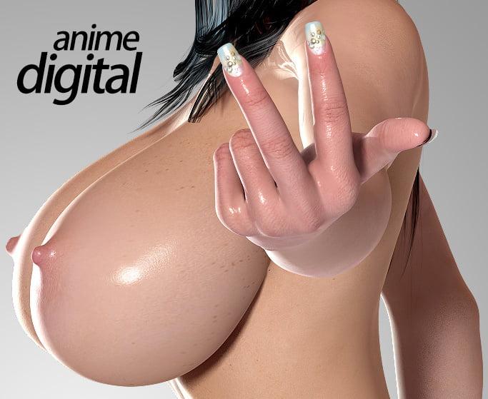 Huge anime tits-5293