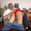 Old Professor gives young Amelia the spanking she deserves