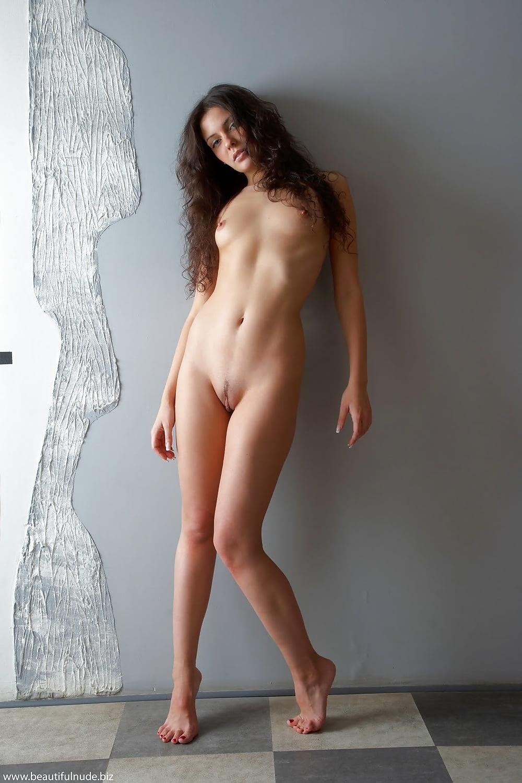 Girl stood nude