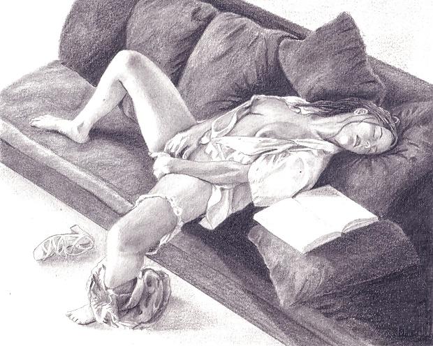 рисунки карандашом мастурбация они