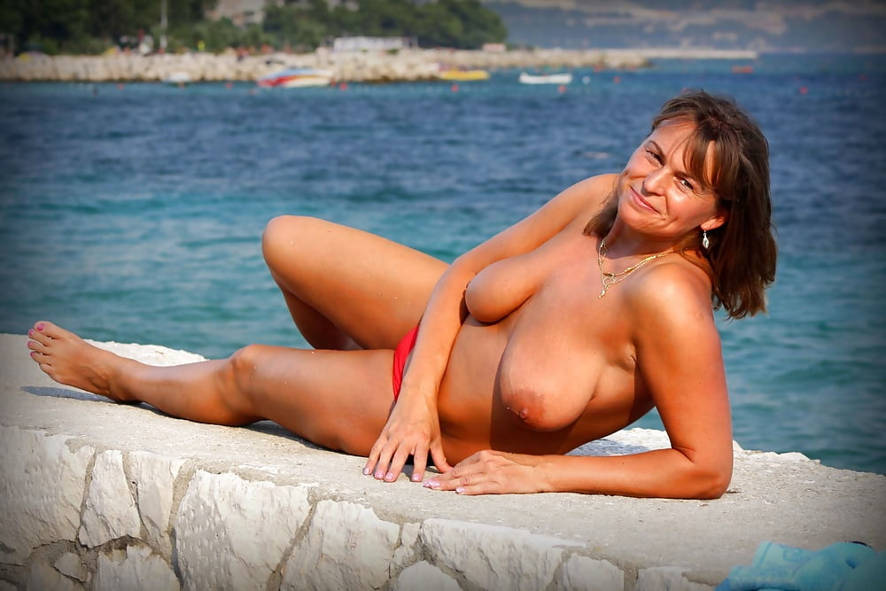 Beautiful And Hot Blonde Milf Wife On The Beach Nude