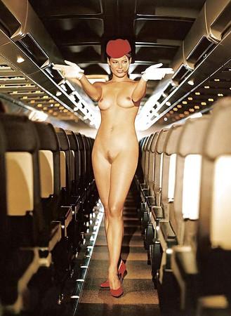 Naked stewardess Stewardess