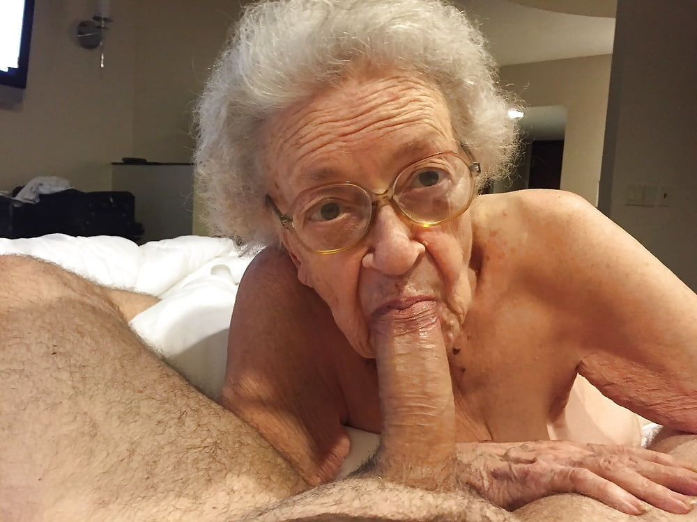Old granny small dick