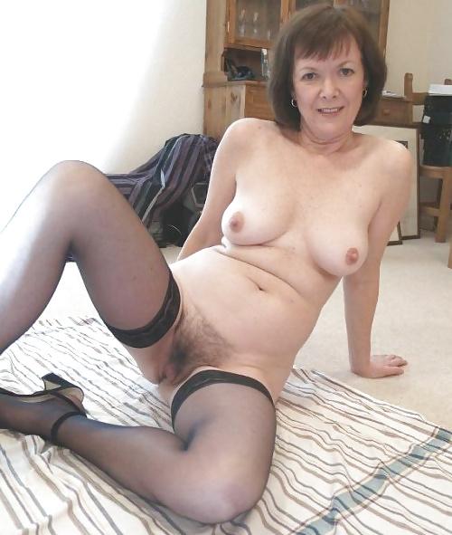 Naked women wearing stockings