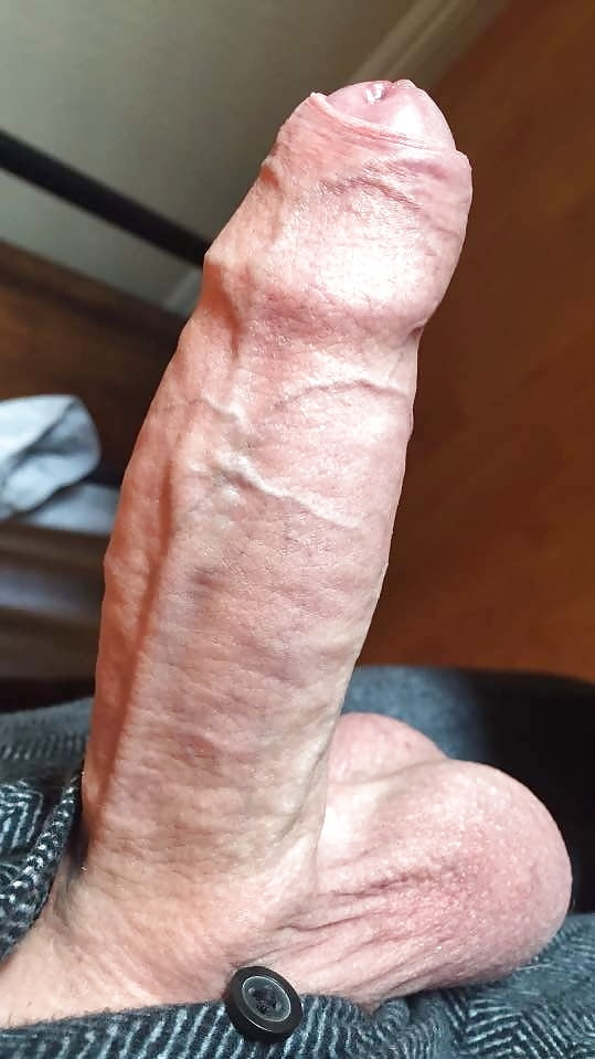 White socks and a hard uncut cock