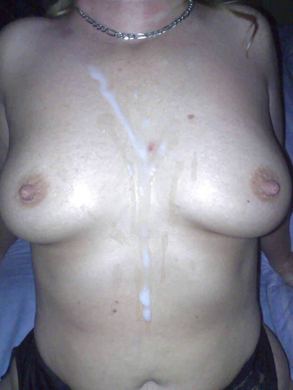 сперма на груди частное - 3