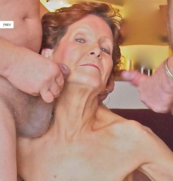 Versaute Granny Sexmaschine Facialsex