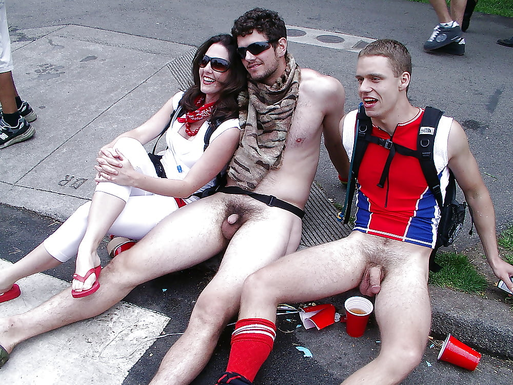 Exposed cock gay parade