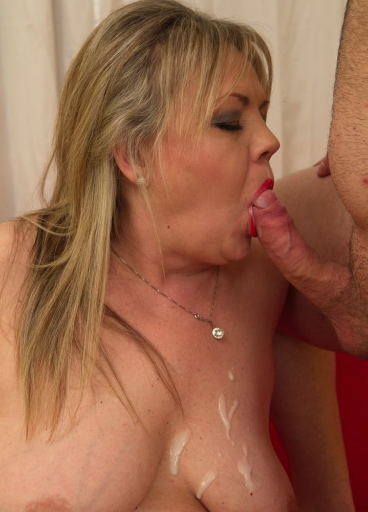 Out older woman tanned cum
