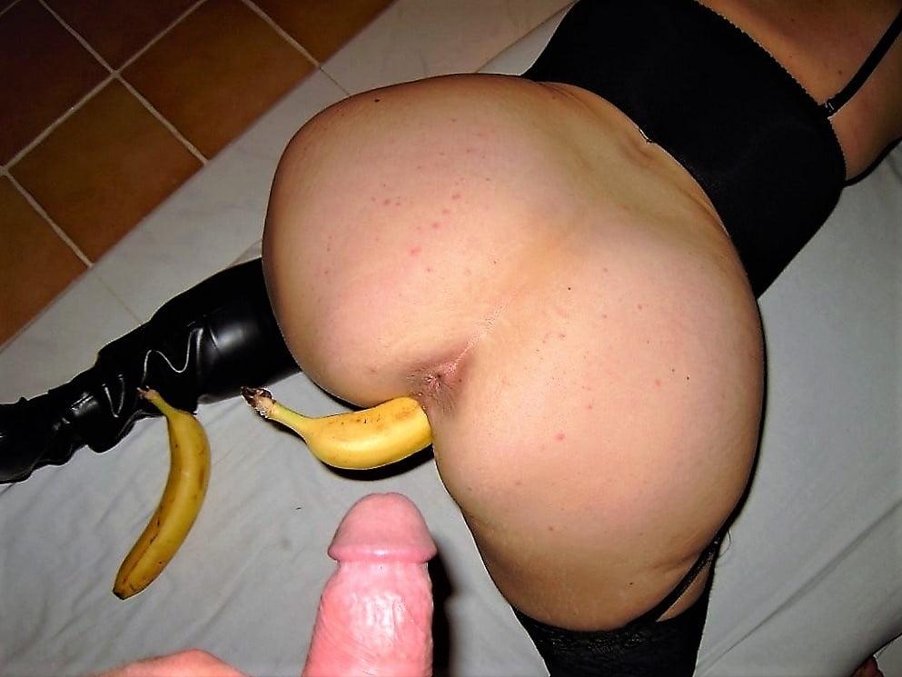 фото тети с бананом в попе частное - 3