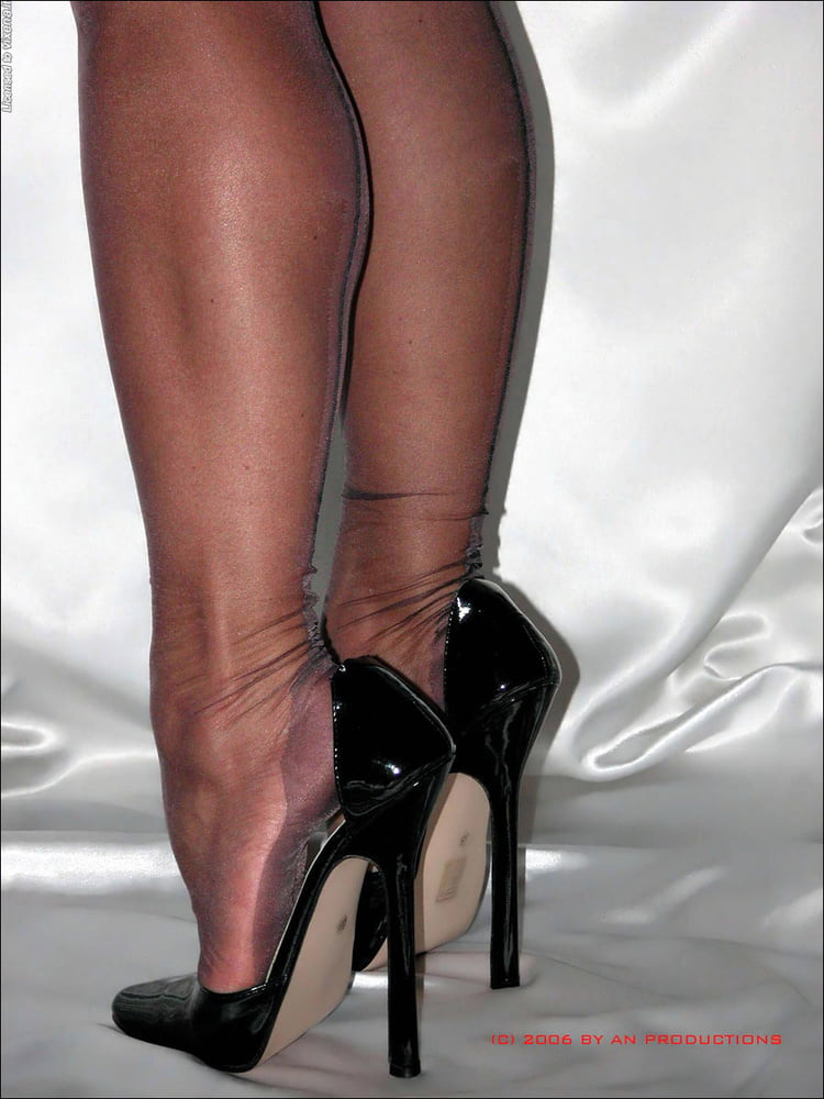 Mature spike heels