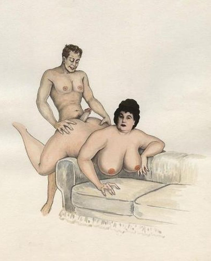 рисованное порно толстушки