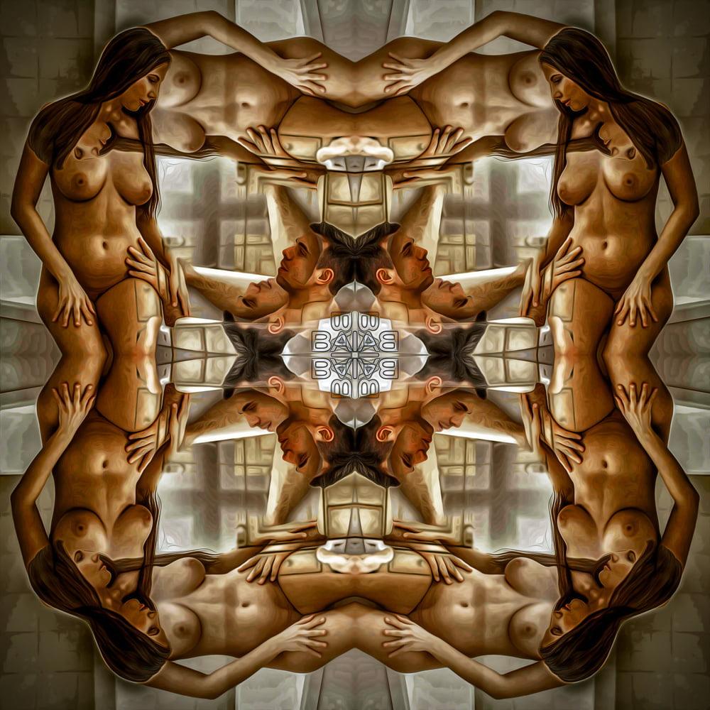 Erotic Mandala, caleidoscope, Abstract Art